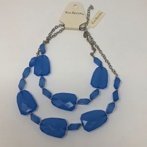 Kim Rogers Lucite Stone Blue Necklace
